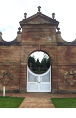 image of the main gate at chatelherault, in Hamilton, one of the areas wher Lamont Blair Chartered Accountants offer their services in accounting, Tax, Payroll, Bookkeeping, Accounts Preparation and Budgeting